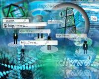 Wereld van Internet Royalty-vrije Stock Afbeelding