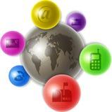 Wereld van mededeling vector illustratie