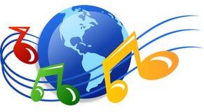 Wereld van muziek Royalty-vrije Stock Foto
