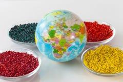 Wereld van plastieken Stock Foto
