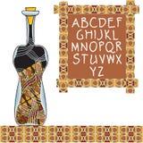Wereld van wijnen royalty-vrije illustratie