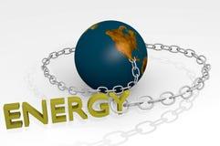 Wereld verbindend aan 3d energie Royalty-vrije Stock Afbeelding