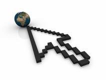 Wereld versus Internet Royalty-vrije Stock Afbeeldingen
