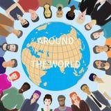 Wereld voor mensenconcept stock illustratie