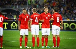 Wereldbeker 2014 bepalend woordspel de Oekraïne v van FIFA Engeland Stock Foto