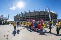 Wereldbeker Brazilië 2014 - Chili van Brazilië 1 X 1 Stock Foto's