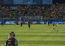 Wereldbeker Brazilië 2014 - Chili van Brazilië 1 X 1 Stock Afbeelding