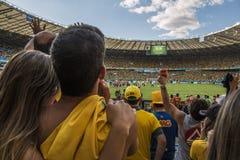 Wereldbeker Brazilië 2014 - Chili van Brazilië 1 X 1 Stock Fotografie