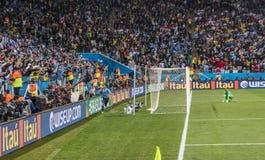 Wereldbeker Brazilië 2014 - Engeland van Uruguay 2 X 1 Royalty-vrije Stock Afbeeldingen