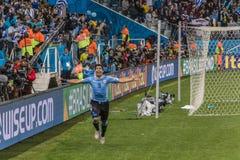 Wereldbeker Brazilië 2014 - Engeland van Uruguay 2 X 1 Stock Afbeeldingen