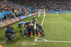 Wereldbeker Brazilië 2014 - Engeland van Uruguay 2 X 1 Stock Foto