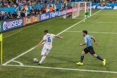 Wereldbeker Brazilië 2014 - Engeland van Uruguay 2 X 1 Stock Afbeelding
