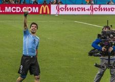 Wereldbeker Brazilië 2014 - Engeland van Uruguay 2 X 1 Stock Fotografie