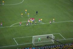 Wereldbeker Brazilië 2014 - Kroatië van Brazilië 3 X 1 Royalty-vrije Stock Afbeeldingen