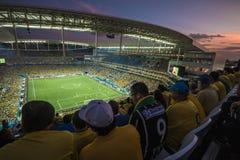 Wereldbeker Brazilië 2014 - Kroatië van Brazilië 3 X 1 Stock Foto