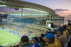 Wereldbeker Brazilië 2014 - Kroatië van Brazilië 3 X 1 Stock Foto's