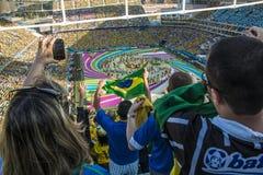 Wereldbeker Brazilië 2014 - Kroatië van Brazilië 3 X 1 Stock Afbeeldingen