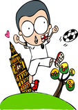 Wereldbeker Engelse voetballer stock afbeelding
