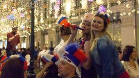 Wereldbeker 2018 voetbalventilators, Moskou stock foto's