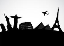 Wereldberoemd monument stock illustratie