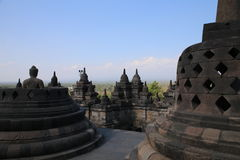 Wereldberoemde tempels van Borobudur Royalty-vrije Stock Fotografie