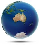 Wereldbol - Oceanië Royalty-vrije Stock Afbeeldingen