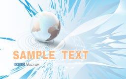 Wereldbol op abstracte blauwe achtergrond Vector Illustratie