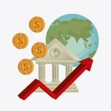 wereldeconomie, geld en zaken Stock Foto's