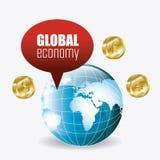 wereldeconomie, geld en zaken Royalty-vrije Stock Foto's