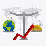 wereldeconomie, geld en zaken Stock Foto