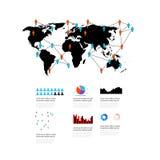 Wereldelementen van infographics Royalty-vrije Stock Afbeelding