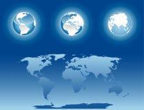 Werelden stock illustratie