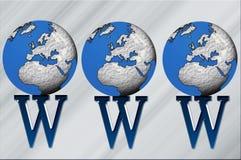 Werelden WWW royalty-vrije illustratie