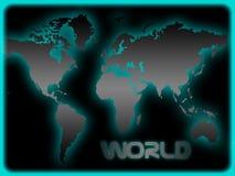 Wereldkaart Royalty-vrije Stock Afbeeldingen