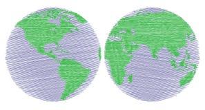 Wereldkaart Stock Foto's