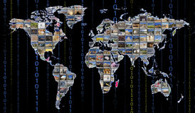 Wereldkaart Stock Fotografie