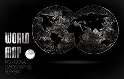 Wereldkaart en Informatiegrafiek Stock Afbeelding