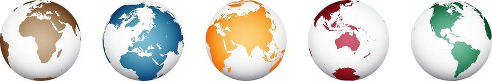 Wereldkaart - hoog Gedetailleerde Vector stock illustratie