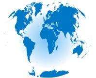Wereldkaart met elk continent stock illustratie