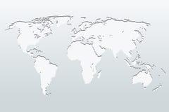 Wereldkaart op een grijze achtergrond Vector illustratie vector illustratie
