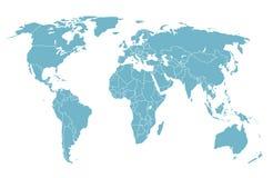 Wereldkaart in perspectief Vector vector illustratie