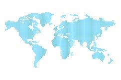 Wereldkaart in pixel Stock Foto's