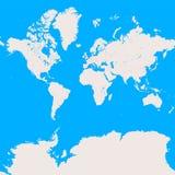 Wereldkaart, planisphere met prominente stedelijke gebieden stock illustratie