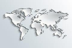 Wereldkaart in schildocument Royalty-vrije Stock Afbeelding