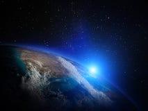 Wereldkaart van ruimte Stock Afbeelding