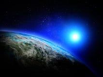 Wereldkaart van ruimte Stock Fotografie