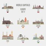 Wereldkapitalen Stock Afbeelding