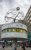 Wereldklok Alexanderplatz Berlijn Stock Foto's