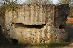 Wereldoorlog één bunker, Heuvel 60, België Royalty-vrije Stock Foto