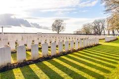 Wereldoorlog één Vlaanderen België van militairCemetery stock afbeelding